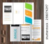 white brochure template design... | Shutterstock .eps vector #258074297