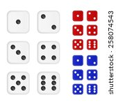 Set Of Dices In Three Differen...