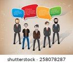 speech character design on old...   Shutterstock .eps vector #258078287