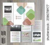 white brochure template design... | Shutterstock .eps vector #258078977