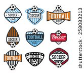 vector set badges logos for... | Shutterstock .eps vector #258083213