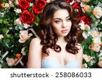 close up portrait of beautiful... | Shutterstock . vector #258086033