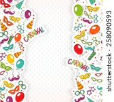 festive page  with carnival... | Shutterstock .eps vector #258090593