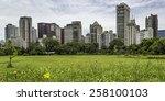 public park in sao paulo ... | Shutterstock . vector #258100103