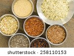ancient grains and healthy... | Shutterstock . vector #258110153