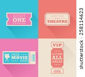 a set of movie admission... | Shutterstock .eps vector #258114623
