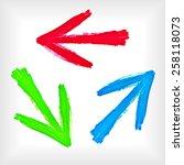 set of watercolor arrows.... | Shutterstock .eps vector #258118073