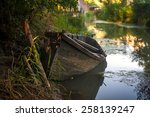 small boat in one of the rivers ... | Shutterstock . vector #258139247