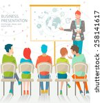concept of business meeting  ... | Shutterstock .eps vector #258141617