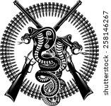 snake tattoo cobra | Shutterstock .eps vector #258146267