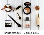 fashion woman objects. makeup... | Shutterstock . vector #258161213