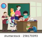 classroom vector | Shutterstock .eps vector #258170393
