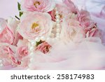 roses background with pearls | Shutterstock . vector #258174983