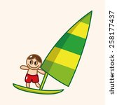 water sports theme elements | Shutterstock .eps vector #258177437