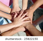 a lot of hands my friends | Shutterstock . vector #25822150