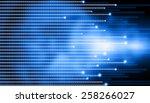 hi tech technological background | Shutterstock . vector #258266027