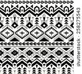 vector seamless tribal pattern... | Shutterstock .eps vector #258275543