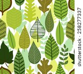 pattern with stylized leaves.... | Shutterstock .eps vector #258277337