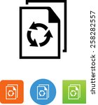 document recycling icon | Shutterstock .eps vector #258282557