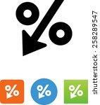 decreasing percentage icon | Shutterstock .eps vector #258289547