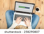 downloading from the internet... | Shutterstock . vector #258290807