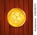 Illustration Golden Coin With...