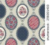 seamless vintage pattern for... | Shutterstock .eps vector #258301403
