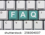 getting the faqs online  a gray ... | Shutterstock . vector #258304037
