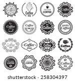 coffee shop design elements in... | Shutterstock .eps vector #258304397