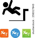 person falling off a loading... | Shutterstock .eps vector #258317843