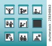 people activities design ... | Shutterstock .eps vector #258348863