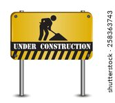 under construction abstract... | Shutterstock .eps vector #258363743