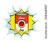 tomato soup design  vector...
