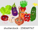 collection of vegetables | Shutterstock .eps vector #258369767