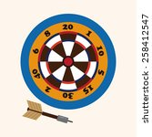 casino darts theme elements | Shutterstock .eps vector #258412547