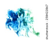 stain with  watercolour blue... | Shutterstock . vector #258422867