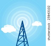 vector background with radio...   Shutterstock .eps vector #25843102