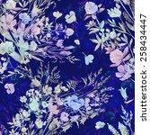 seamless pattern  field of... | Shutterstock . vector #258434447