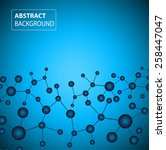 dna background. molecular... | Shutterstock .eps vector #258447047