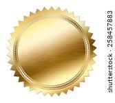 golden seal isolated on white... | Shutterstock . vector #258457883