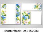 abstract flower background with ... | Shutterstock . vector #258459083