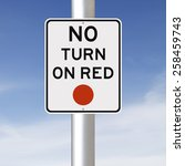a traffic sign indicating no... | Shutterstock . vector #258459743
