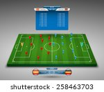 vector soccer field with... | Shutterstock .eps vector #258463703