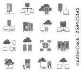 public cloud secure data... | Shutterstock .eps vector #258475163