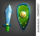 cartoon sword and shield....