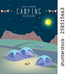 illustration vector of camping... | Shutterstock .eps vector #258515663