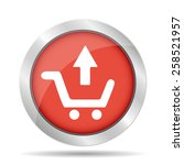 shopping cart flat icon with...
