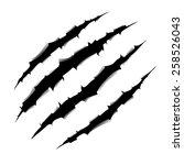 monster claw | Shutterstock .eps vector #258526043
