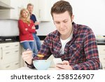 mature parents frustrated with... | Shutterstock . vector #258526907