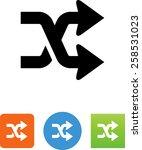 shuffle   mix arrows icon | Shutterstock .eps vector #258531023